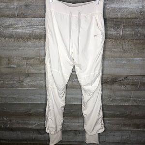 Nike Dri Fit white warm up active workout pants